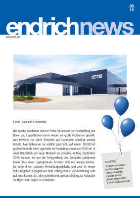 Endrich News September 2018